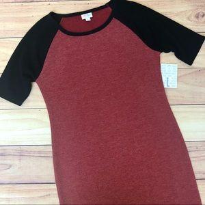 NWT Lularoe Julia Dress Red & Black L